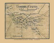 Underhill Center, Vermont 1857 Old Town Map Custom Print - Chittenden Co.