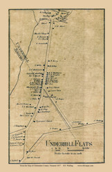 Underhill Flats, Vermont 1857 Old Town Map Custom Print - Chittenden Co.