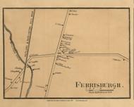 Ferrisburg Village, Vermont 1857 Old Town Map Custom Print - Addison Co.
