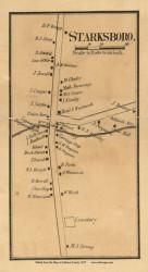 Starksboro Village, Vermont 1857 Old Town Map Custom Print - Addison Co.