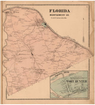 Florida, Montgomery Co. New York 1868 - Old Town Map Reprint - Montgomery & Fulton Cos. Atlas