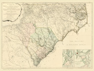 North Carolina 1775 Henry, Mouzon & Others - Old State Map Reprint