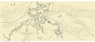 Squam Lake - Proposed Canal - NH Lakes, New Hampshire 1830 - Old Map Reprint
