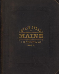Cover 0, Maine 1894 Old Map Reprint - Stuart State Atlas