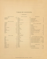Table of Contents 00a, Maine 1894 Old Map Reprint - Stuart State Atlas