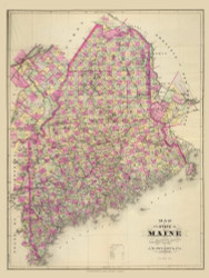 Maine 1, Maine 1894 Old Map Reprint - Stuart State Atlas