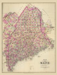 Maine 1, Maine 1894 Old Map Reprint - Stuart State Atlas