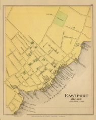 Eastport Village 6, Maine 1894 Old Map Reprint - Stuart State Atlas