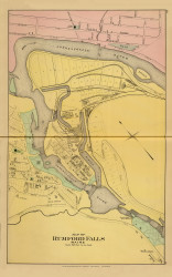 Rumford Falls Village 7, Maine 1894 Old Map Reprint - Stuart State Atlas