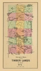 Timber Lands No. 1 - CUSTOM - Mount Katahdin 8b, Maine 1894 Old Map Reprint - Stuart State Atlas