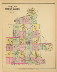 Timber Lands No. 2 - East Machias River - Beddington - Union River 9, Maine 1894 Old Map Reprint - Stuart State Atlas
