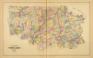 Timber Lands No. 3 - Millinocket - Penobscot River - West Grand Lake - Howland 10, Maine 1894 Old Map Reprint - Stuart State Atlas