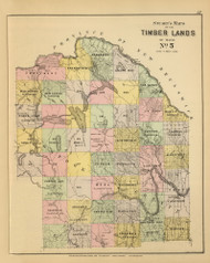 Timber Lands No. 5 - Fort Kent - Presque Isle 12, Maine 1894 Old Map Reprint - Stuart State Atlas