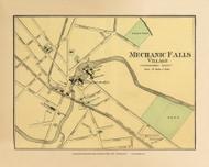 Mechanic Falls Village 18b, Maine 1894 Old Map Reprint - Stuart State Atlas