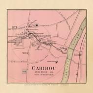 Caribou Village 18c, Maine 1894 Old Map Reprint - Stuart State Atlas
