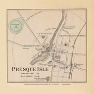 Presque Isle Village 18d, Maine 1894 Old Map Reprint - Stuart State Atlas
