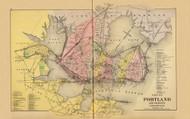 City of Portland 20, Maine 1894 Old Map Reprint - Stuart State Atlas