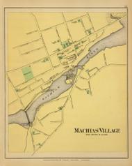Machias Village 24, Maine 1894 Old Map Reprint - Stuart State Atlas