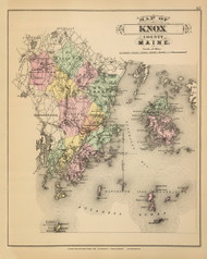 Knox County 31, Maine 1894 Old Map Reprint - Stuart State Atlas