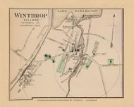 Winthrop Village 34d, Maine 1894 Old Map Reprint - Stuart State Atlas