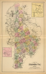 Oxford County 37, Maine 1894 Old Map Reprint - Stuart State Atlas