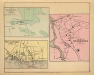 Sorrento, Bucksport and South Berwick Villages 44, Maine 1894 Old Map Reprint - Stuart State Atlas