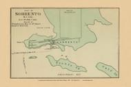 Sorrento Village 44a, Maine 1894 Old Map Reprint - Stuart State Atlas