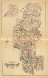 Somerset County 48, Maine 1894 Old Map Reprint - Stuart State Atlas