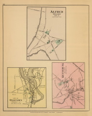 Alfred, Oldtown and Kennebunk Villages 54, Maine 1894 Old Map Reprint - Stuart State Atlas