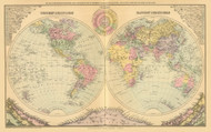 The World 60, Maine 1894 Old Map Reprint - Stuart State Atlas