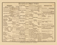 Business Directory, Massachusetts 1858 Old Town Map Custom Print - Franklin Co.