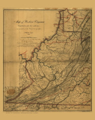 WestVirginia 1862 US Coast & Geodetic Survey - Old State Map Reprint