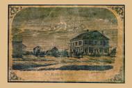 Merrills Hotel - Colchester, Vermont 1857 Old Town Map Custom Print - Chittenden Co.