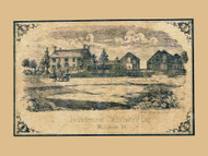 CW Brownell Residence - Williston, Vermont 1857 Old Town Map Custom Print - Chittenden Co.