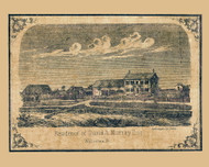 David A Murray Residence - Williston, Vermont 1857 Old Town Map Custom Print - Chittenden Co.