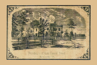 David Read Residence - Winooski, Vermont 1857 Old Town Map Custom Print - Chittenden Co.