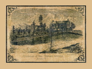 Galusha Residence - Jericho, Vermont 1857 Old Town Map Custom Print - Chittenden Co.