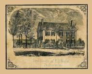 HS Morse Residence - Shelburne, Vermont 1857 Old Town Map Custom Print - Chittenden Co.