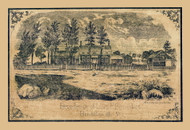 Levi Benedict  Residence - Hinesburg, Vermont 1857 Old Town Map Custom Print - Chittenden Co.