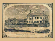 Rufus Bishop Residence - Jericho, Vermont 1857 Old Town Map Custom Print - Chittenden Co.
