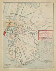 New York City 1917 - Brooklyn Rapid Transit Map - Subway  - Old Map Reprint