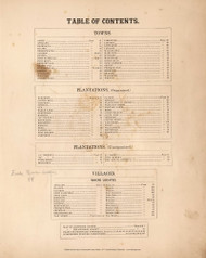 Table of Contents, Maine 1877 Old Map Reprint - Aroostook Co. 2