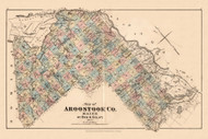 Aroostook Co., Maine 1877 Old Map Reprint - Aroostook Co. 7