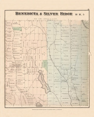 Benedicta Silver Ridge, Maine 1877 Old Town Map Reprint - Aroostook Co. 15