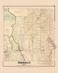 Sherman, Maine 1877 Old Town Map Reprint - Aroostook Co. 17