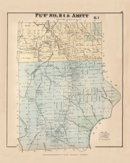 Amity XI R5, Maine 1877 Old Town Map Reprint - Aroostook Co. 21