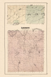 Linneus, Maine 1877 Old Town Map Reprint - Aroostook Co. 28