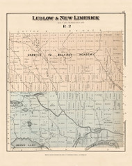 Ludow New Limerick Belfast Adacemy Grant, Maine 1877 Old Town Map Reprint - Aroostook Co. 37