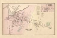 Houlton Village, Maine 1877 Old Town Map Reprint - Aroostook Co. 43