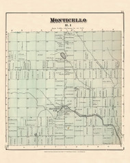 Monticello, Maine 1877 Old Town Map Reprint - Aroostook Co. 51